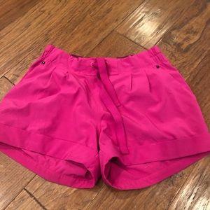 Lululemon bright pink shorts size 6